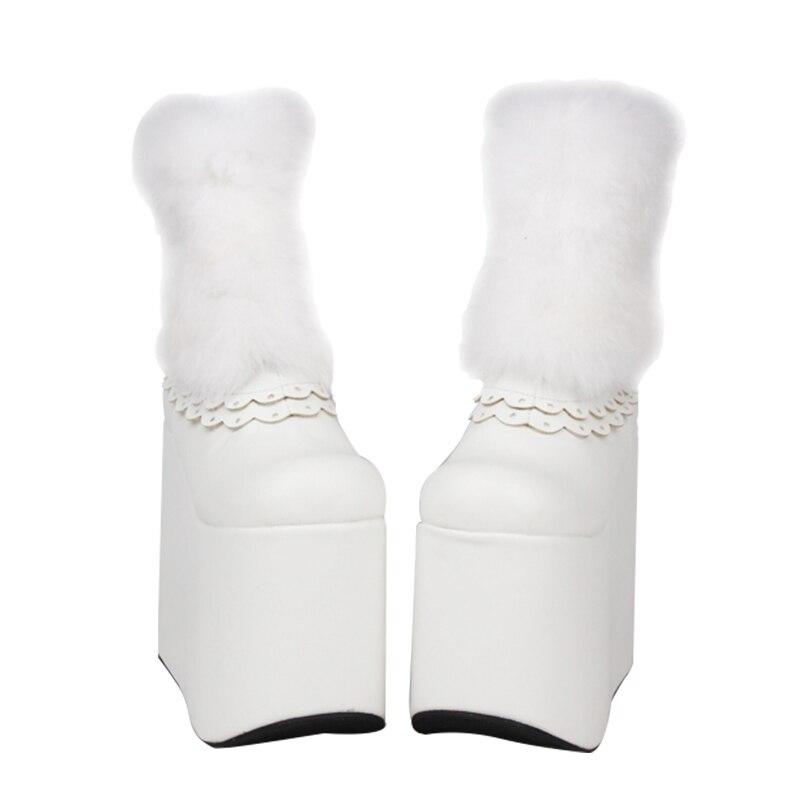Angelical Señora Trifle Super Plataforma 33 Zapatos 47 Alta Mori Tobillo Impresión Tacones Botas Vestido Mujer Chica Lolita Mujeres Bombas Princesa xYwCdYpSq