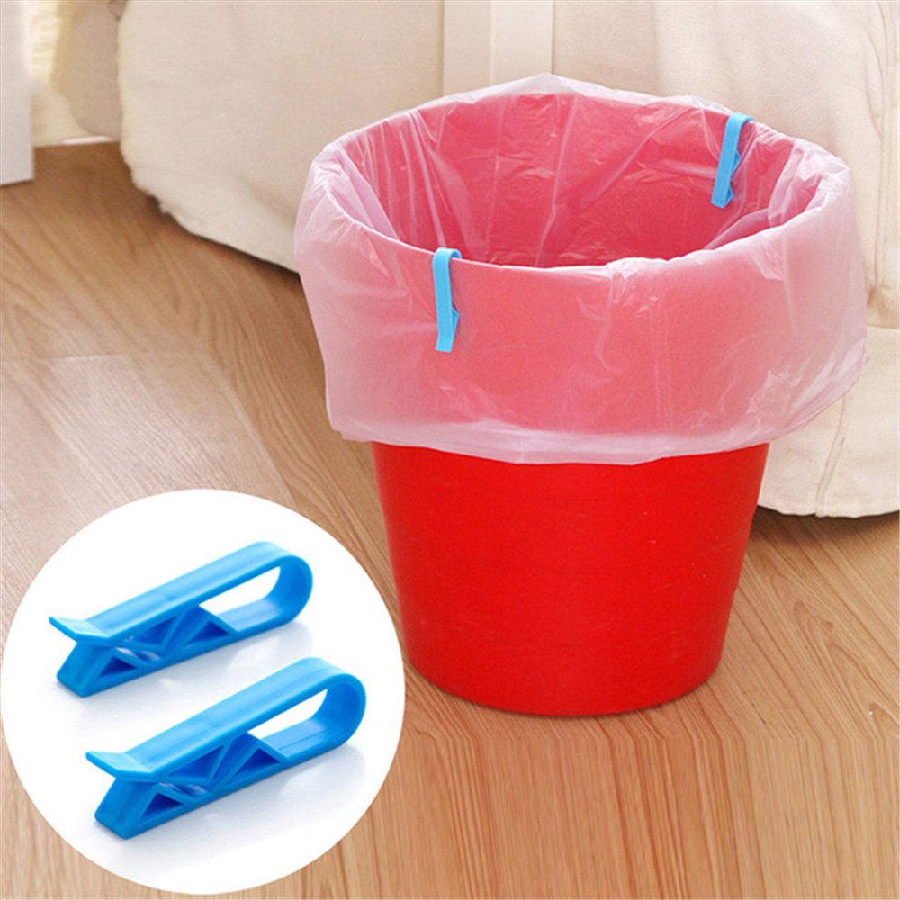 8 Pcs Creative garbage barrel clip holder Japan garbage bag anti slip divider side clip home supplies organizer trash pack Hot