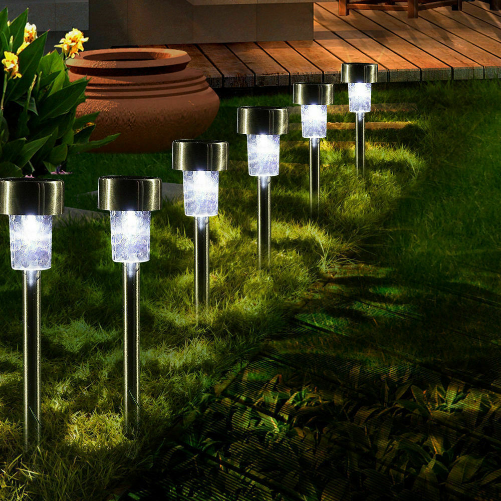 Path Landscape Solar US LED Lawn Garden Lamp Power Outdoor Spot Walkway Light