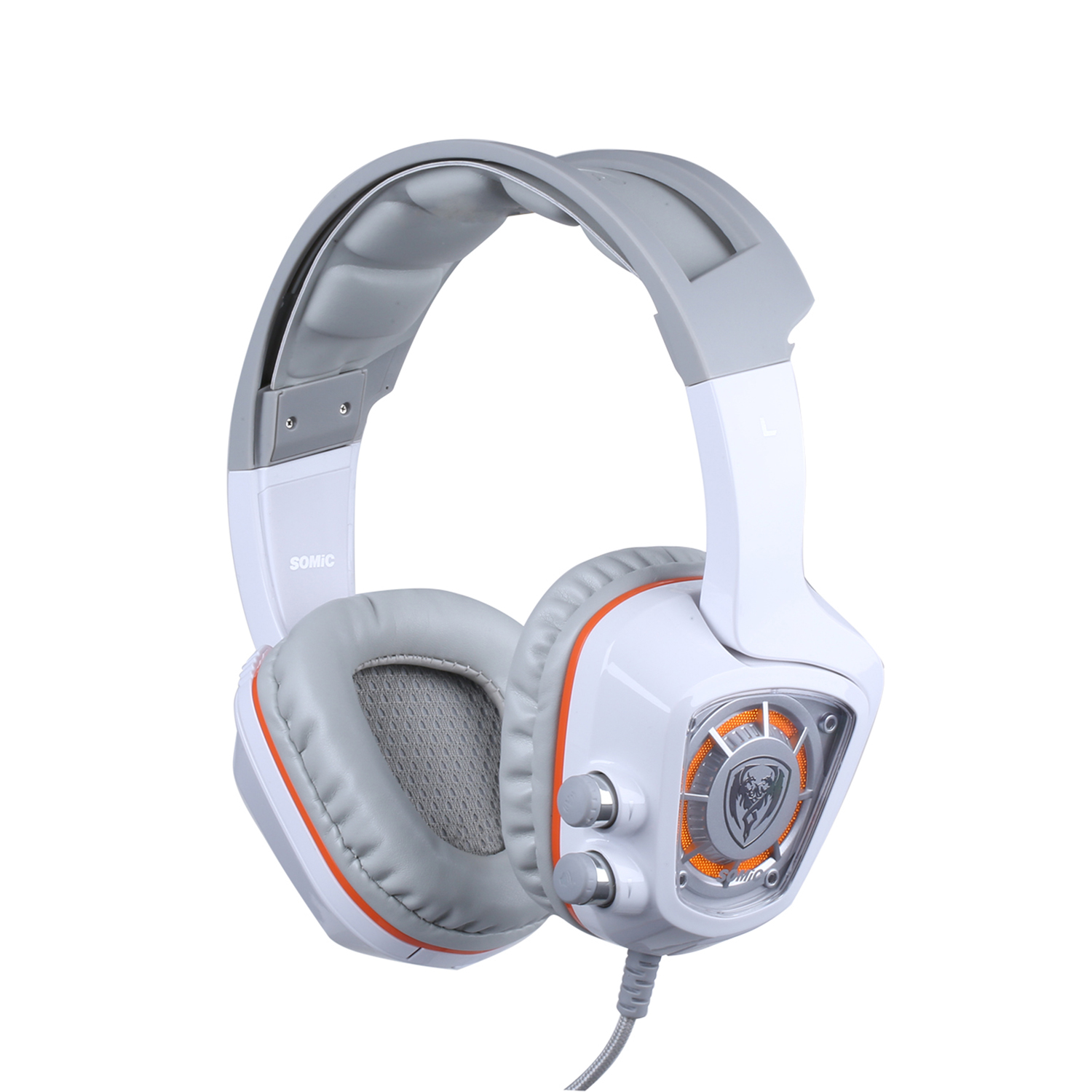 HFES New SOMiC G910 Original USB 7.1 Surround Sound Gaming Headset with Mic LED light Smart Vibration Over-ear PC Headphone Du купить в Москве 2019