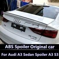 For AUDI A3 Spoiler 2013 2017 High Quality ABS Material Car Rear Wing Primer Color Rear Spoiler For AUDI S3 Spoiler