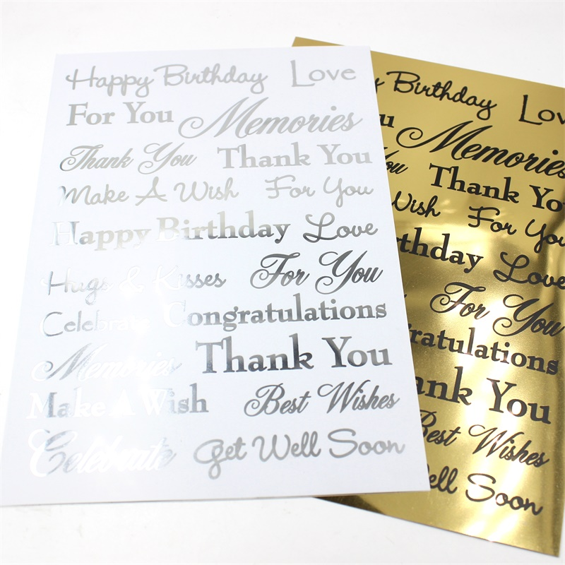 YPP CRAFT Gold/Sliver Happy Birthday Rub On for Scrapbooking DIY Projects/Photo Album/Card Making Crafts