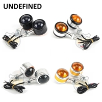 Moto motocicleta peças de alumínio pequeno redondo lente dupla led turn signal blinker âmbar indicato luz indefinida|turn signal -