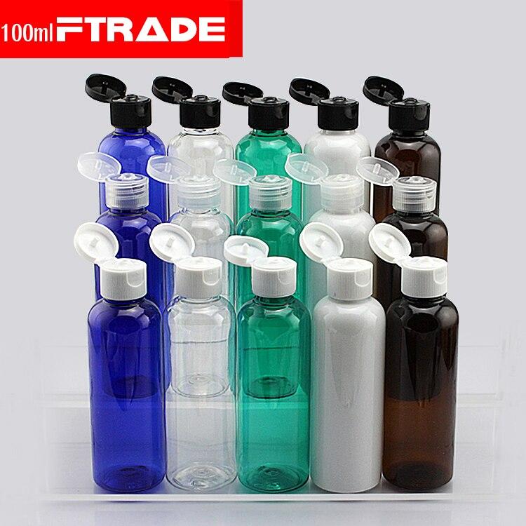 10pcs lot 100ml shampoo plastic travel bottles with flip. Black Bedroom Furniture Sets. Home Design Ideas