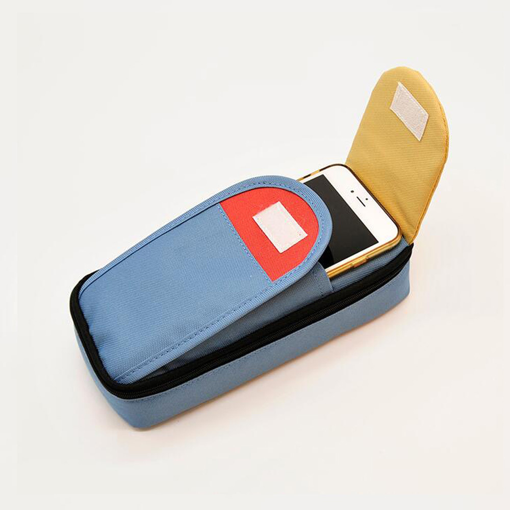 Large-Capacity Canvas Pencil Case For Boys Pencase Korean Big Pencil Box Multifunction Stationery Holder school supplies high quality canvas large capacity solid color school multifunctional boys pencil case pen holder bag stationery penalty 04921