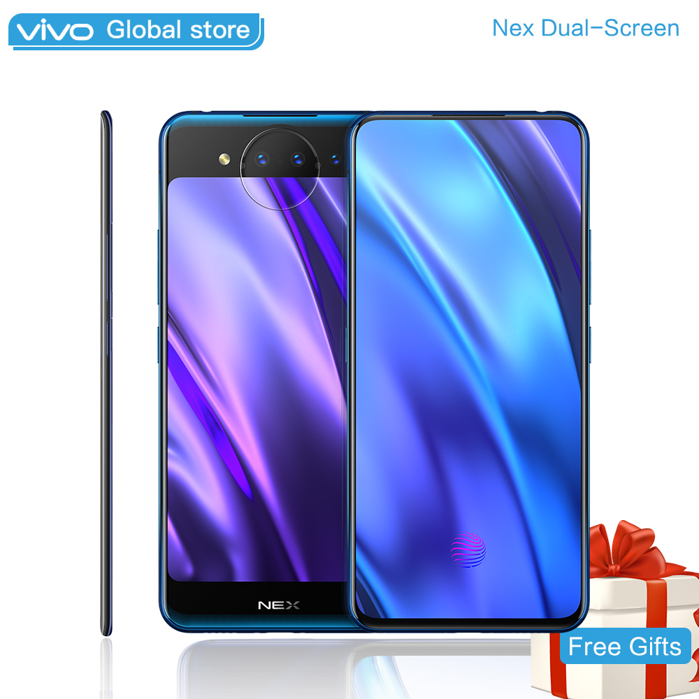 Vivo NEX 2 Double-Écran SnapDragon 845AIE 10 GO 128 GO 6.39 5.49 pour Deux Écran Triple caméra Octa base Téléphone Portable À Puce