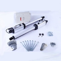 Electric Automatic Swing Gate Door Opener Motors Linear Actuator With 2 Remote Controls