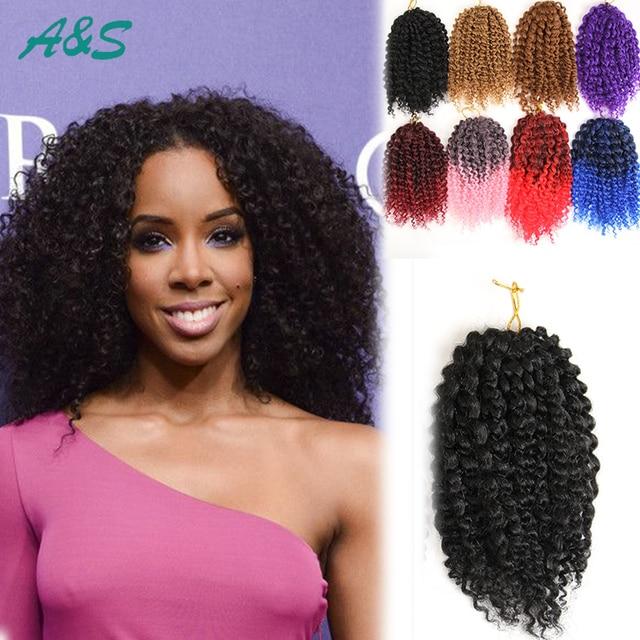 Black Crochet Braids Hair Extension Curly Crochet Hair Kinky Curly