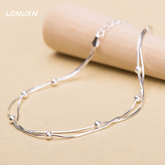 20 5 3cm High Quality Double Chain 925 Sterling Silver Bracelet