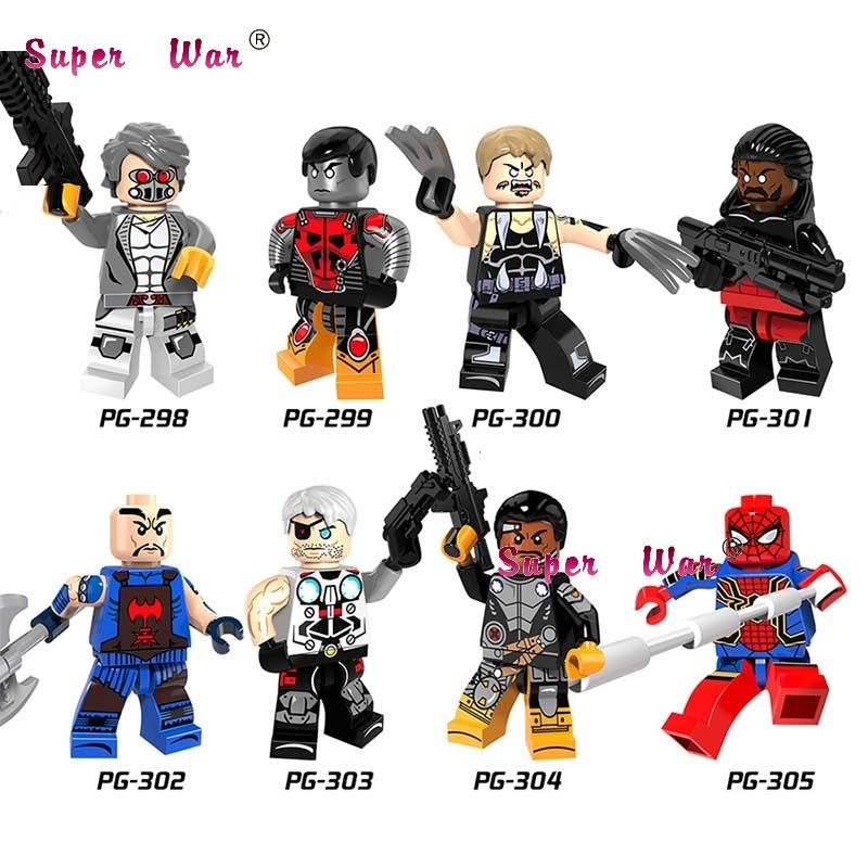 Model Building Toys & Hobbies Popular Brand 80pcs Super Hero The Gifted X-men Saber-toothed Colossus Pogue Shadowcat Bishop Spiderman Model Building Blocks Toy For Children Superior Performance