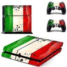 Флаг Италии Наклейка для PS4 Стикеры для sony Playstation 4 консоли защиты плёнки+ 2 шт. контроллеры 2 вышивка крестом картины