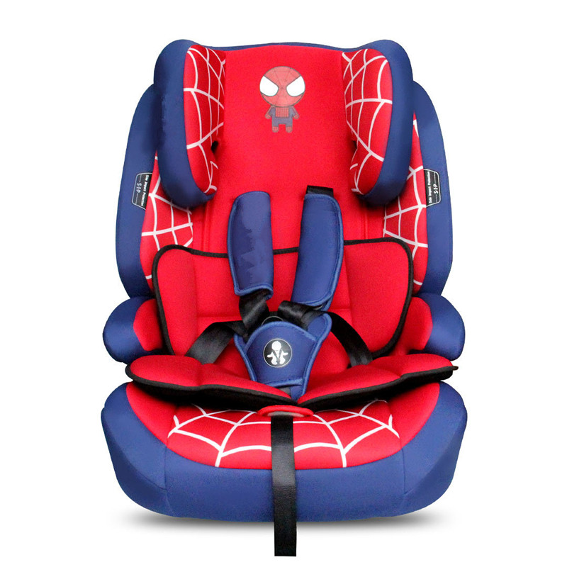 New three point seat belt fixed child car seat authority certification quality advanced Captain America, spider man
