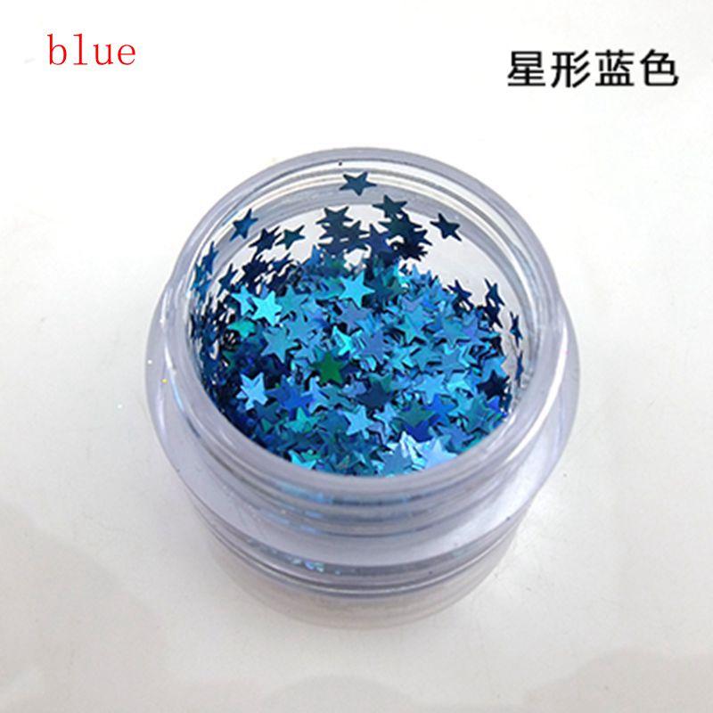 10 g/caja multicolor varios tipos de brillante brillo Polvos de ...