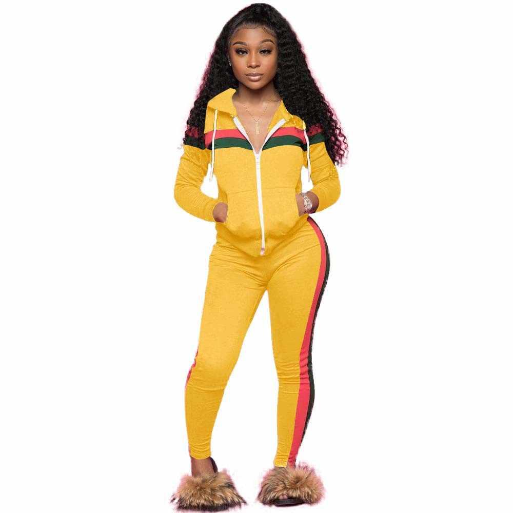 db2164502d 2019 Women's Sports Suits Sexy Tracksuit Women Jogging Suit 2 Two Piece Set  Sportswear Track Suit Women Sport Set Workout