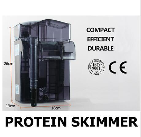 Limpiador de proteínas de acuario marino para colgar 500L/h para menos de 200L tanque de peces compacto eficiente y duradero PS2012