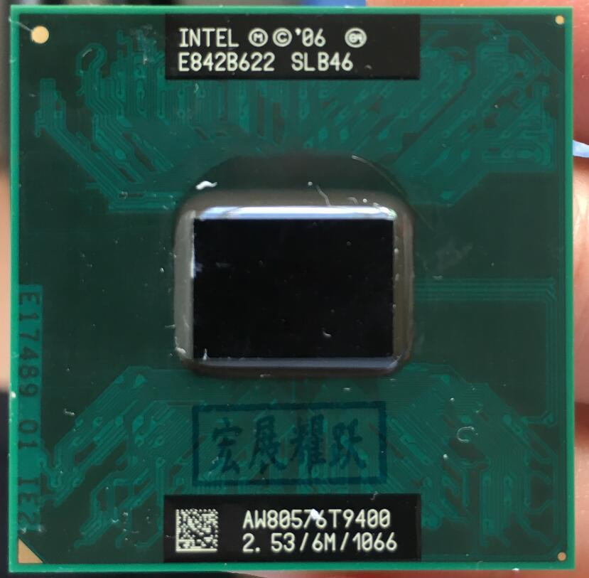 Processeur d'ordinateur portable Intel Core 2 Duo T9400 CPU PGA 478 cpu 100% fonctionnant correctement