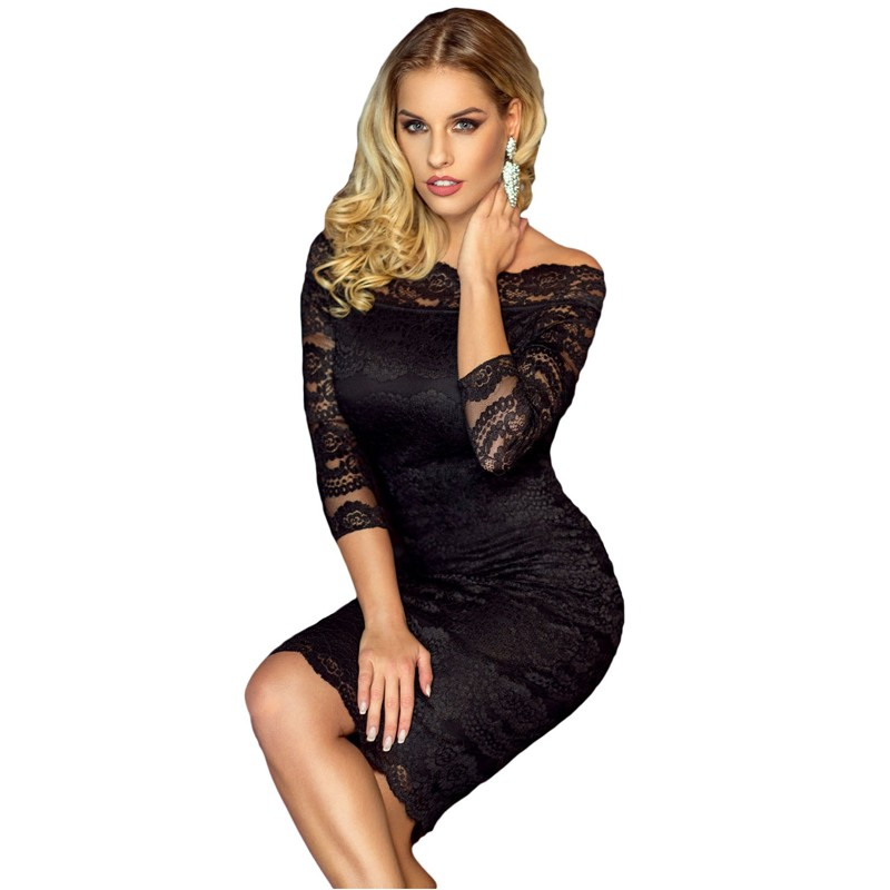Zkess Womens Elegant Delicate Floral Lace Dress Casual Party Bodycon Special Occasion Bridemaid Mother of Bride Dress LC61291 7