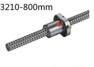 1pcs RM3210 L800mm ball screw+1pcs SFU3210 single ball nut for CNC diameter 32mm ball screw sfu3210 length 900mm plus rm3210 ball nut cnc diy carving machine 1pcs