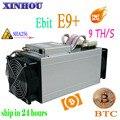 Б/у BTC BCH Майнер Ebit E9 плюс 9TH/s SHA256 шахтерная микросхема экономические чем Antminer S9 S17 S15 S11 T15 Z11 Z9 B7 whatsminer M3 M10 T3