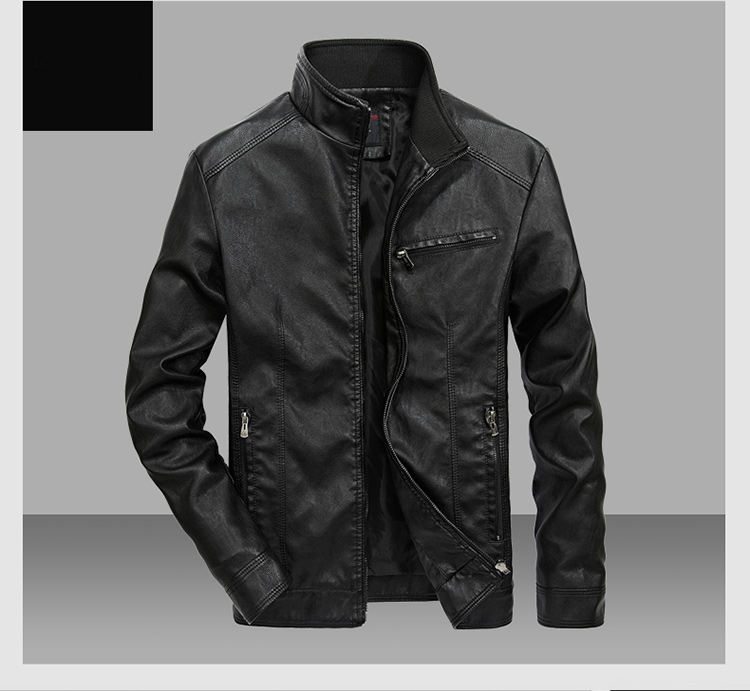 HTB1zTQ4BLiSBuNkSnhJq6zDcpXaE DAVYDAISY 2019 High Quality PU Leather Jackets Men Autumn Solid Stand Collar Fashion Men Jacket Jaqueta Masculina 5XL DCT-245