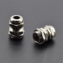2 шт. из нержавеющей стали PG7 3,0-6,5 мм водонепроницаемый кабельный ввод