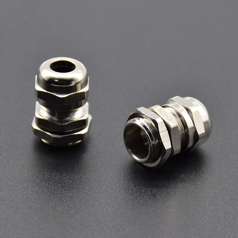 2 Pcs Stainless Steel PG7 3.0-6.5mm Waterproof Connector Cable Gland