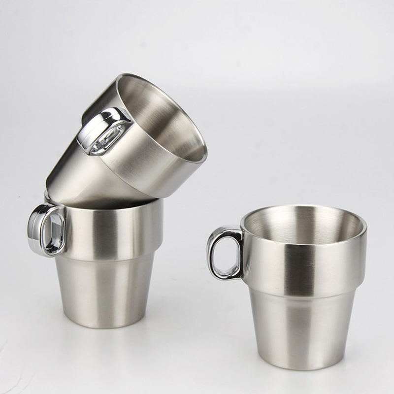 Brief Stainless Steel Espresso Coffee Mug Solid Color Cup Set With Rack In Mugs From Home Garden On Aliexpress Alibaba Group