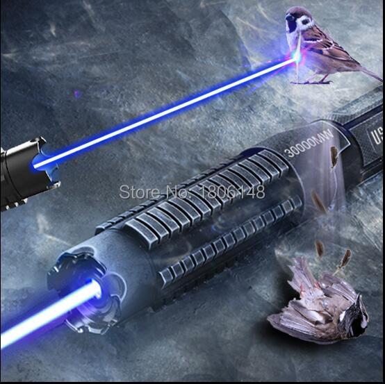 Plus Puissant 500000 mw 500 w 450nm Bleu Pointeurs Laser lampe de Poche Brûler L'allumette Bougie Cigarette Allumée Méchants LAZER Torche Chasse - 2