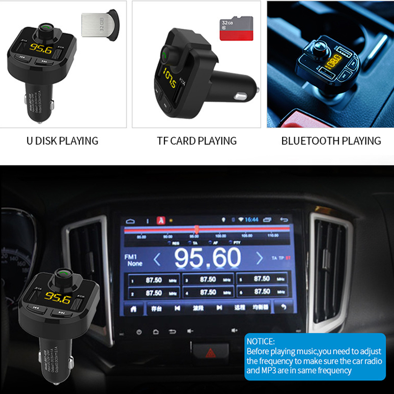 Image 3 - 12V Car MP3 Player Bluetooth USB Music FM Transmitter Handsfree LCD Cigarette Lighter MP3 Auto Charger Voltage Auto Accessories-in Cigarette Lighter from Automobiles & Motorcycles