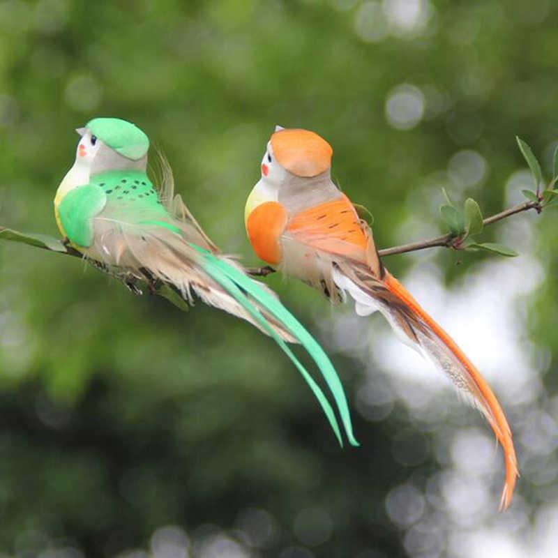 Artificiale della Gomma Piuma Della Piuma Simulazione Uccello FAI DA TE Mestieri Festa di Ornamento Puntelli Casa Giardino Decorazione di Cerimonia Nuziale