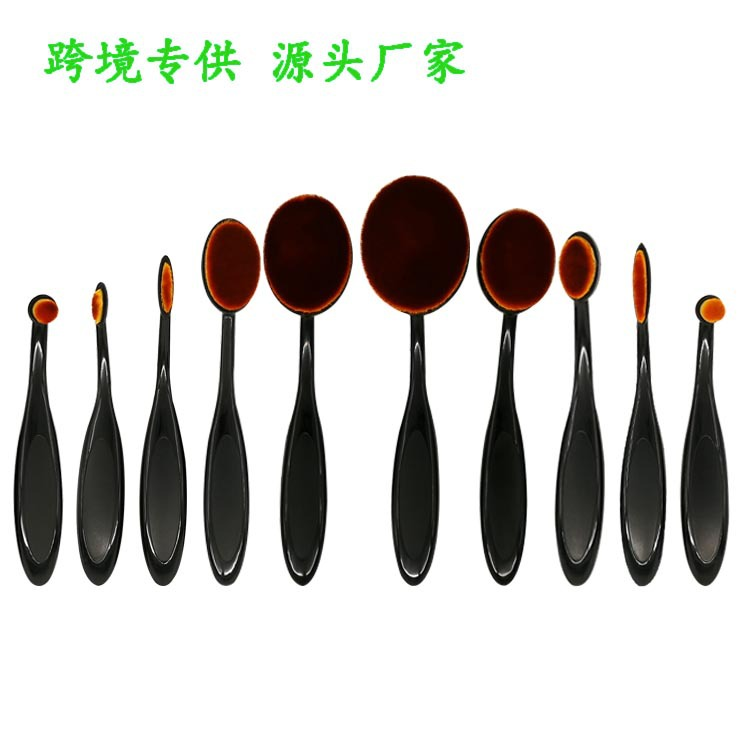 10 Make-up Brush Set Toothbrush Type Cosmetic Brush Beauty Tool Black 10 Toothbrush Makeup Cosmetic Brush P0030 тушь make up factory make up factory ma120lwhdr04