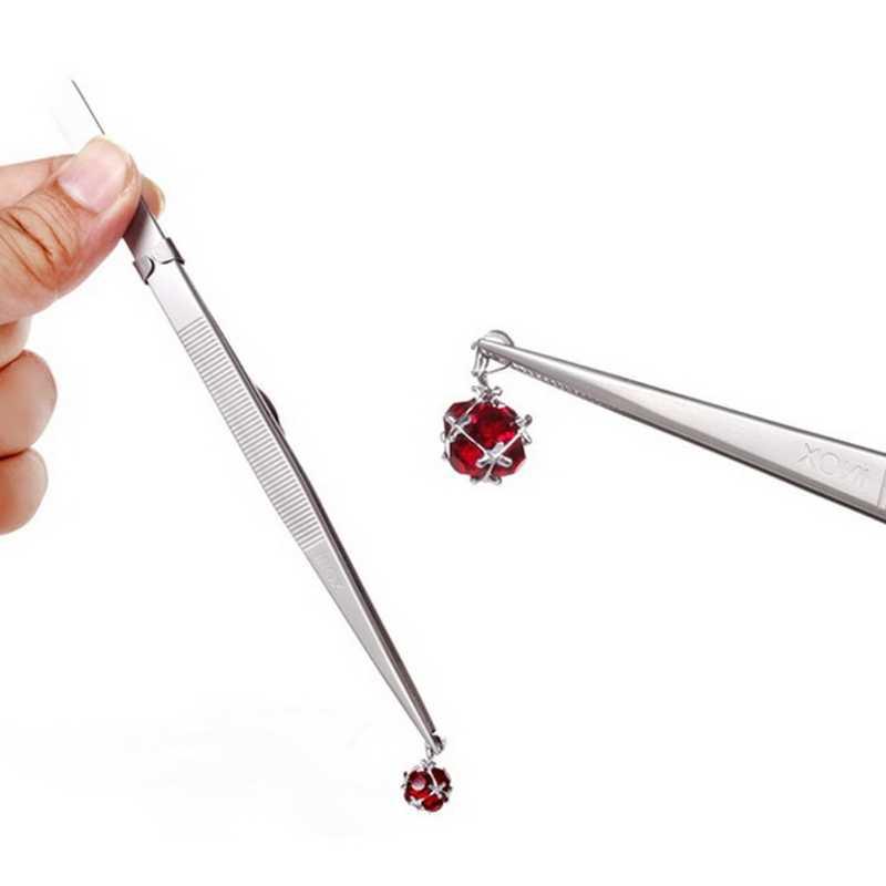 JAVRICK MR 宝石時計ピンセットロックキャッチタイニーダイヤモンドステンレス鋼調節可能なクラフトツール