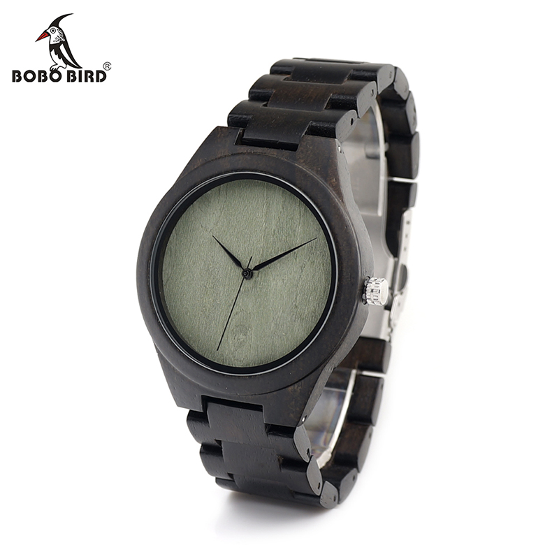 online buy whole green mens watches from green mens bobo bird h04 nature ebony wood men s watch simple green wooden dial face ebony wooden band