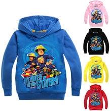 d4a3738ad29 Z   y 3-16Years Fireman Sam trajes ropa Abrigo con capucha bebé jumper para  niños niña ropa imprimir dibujos Outwear n07626