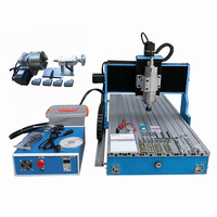 linear guideway wood CNC router 3040L 4Axis 1500W Metal Engraving Milling lathe Machine