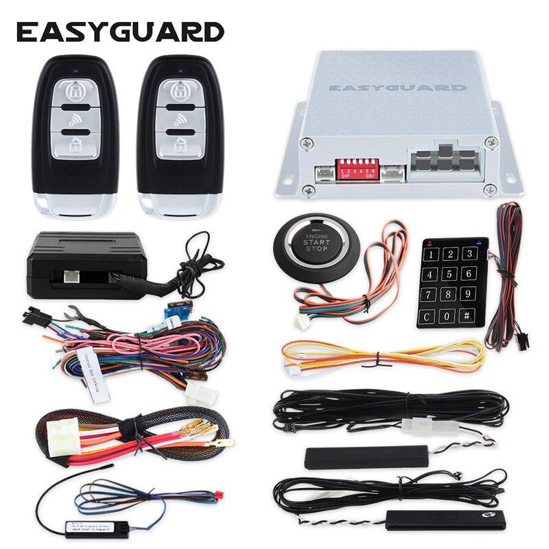 Système d'alarme de voiture universel PKE clé intelligente démarrage automatique bouton de démarrage par bouton tactile mot de passe entrée sauvegarde code de saut et module de dérivation