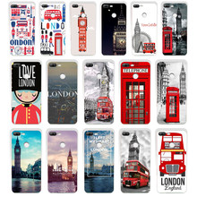 155SD London big ben Bus gift Soft Silicone Tpu Cover phone Case for huawei Honor 8 9 Lite 8X p 9 lite 2016(China)