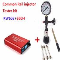 커먼 레일 인젝터 테스터 키트 KW608 다기능 디젤 USB 인젝터 테스터 및 S60H 커먼 레일 인젝터 노즐 테스터