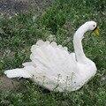 Белые перья  лебедь  приблизительно 40х30 см  Искусственные Птицы  ручная работа  опора  домашний садовый декор  подарок p2722
