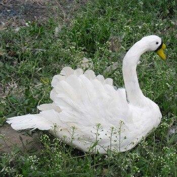 Белые перья, лебедь, приблизительно 40х30 см, Искусственные Птицы, ручная работа, опора, домашний садовый декор, подарок p2722