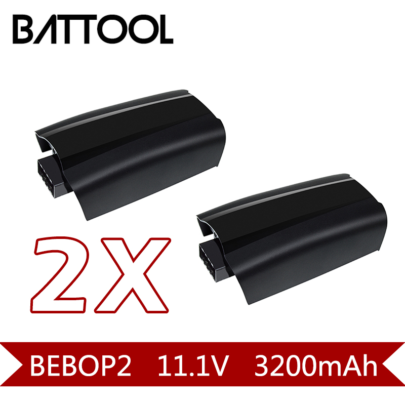2X 11.1V 3200mAh Li-Polymer Battery For Parrot Bebop 2 Drone Accessories