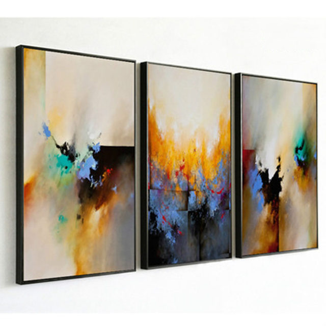 Online Shop Color Contrast Significantly Abstract Ink Oil Painting ...