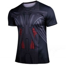 New 2016 new coats shirts T-shirt spider-man captain America avengers superhero man short sleeve shirt for free delivery