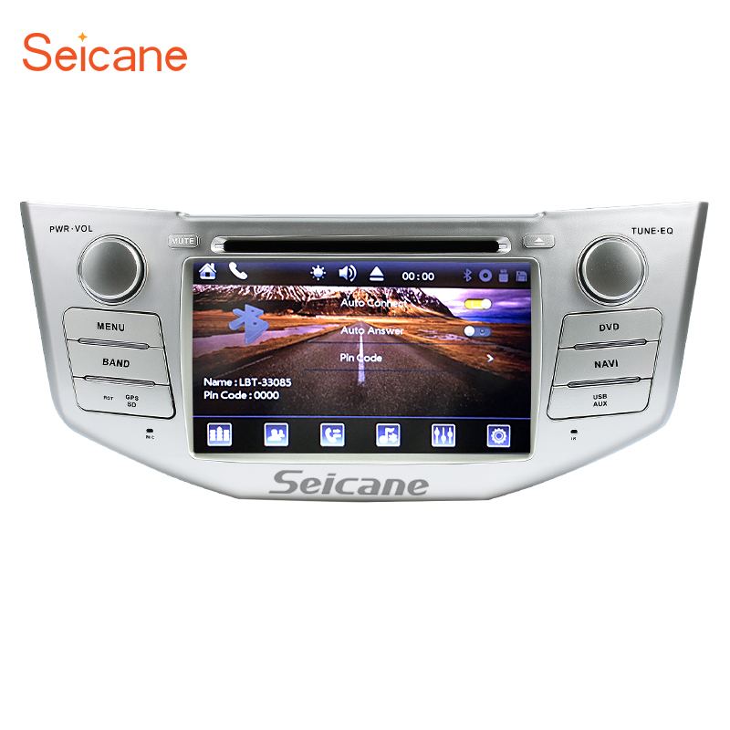 "Seicane 2 din 7 ""автомобильный DVD плеер GPS навигация для 2003 2010 Lexus RX 300 330 350 400H с поддержкой Bluetooth USB SD Aux