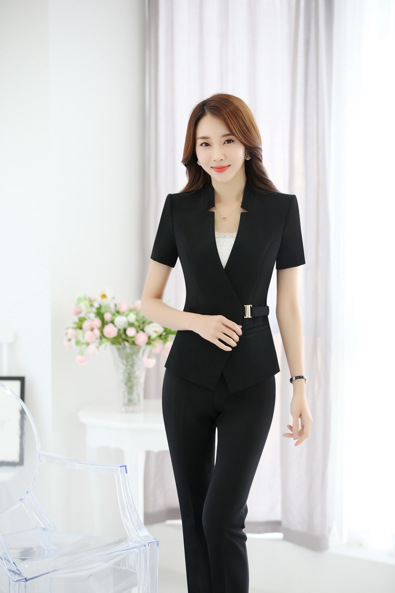 8d9ddec3ce US $38.43 10% OFF|Plus Size 4XL Formal Professional Business Women Suits  With Jackets And Pants Trousers Sets Summer Blazers Outfits For Ladies-in  ...