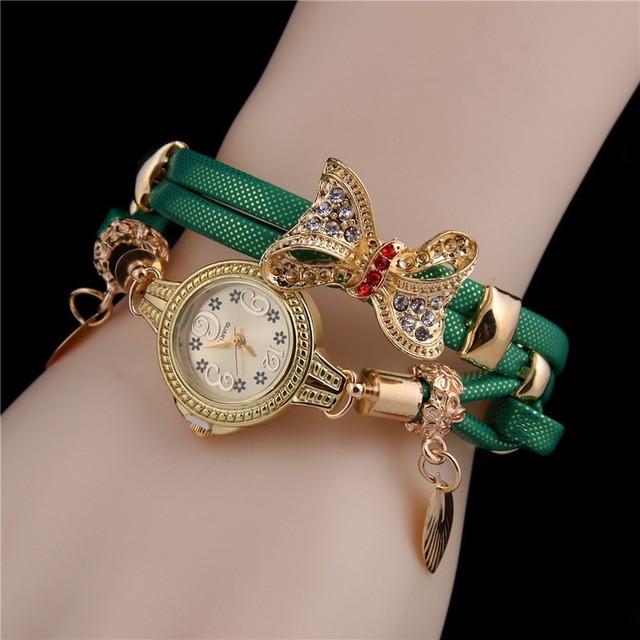 Women's Lovely Rhinestone Bracelet Watch