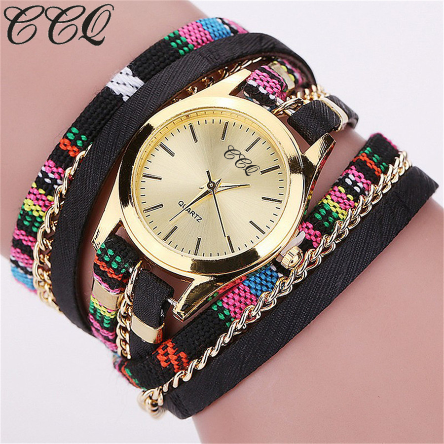 Hot Selling Fashion Leather Bracelet Watch Casual Women Dress Wristwatch Luxury Quartz Watch Relogio Feminino Gift ccq luxury brand vintage leather bracelet watch women ladies dress wristwatch casual quartz watch relogio feminino gift 1821