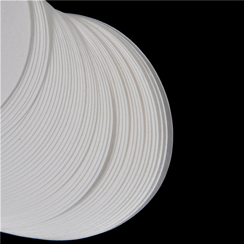100PCS/bag Wholesale 7cm Laboratory Filter Paper Circular Qualitative Filter Paper Medium Speed Funnel Filter Paper Color:White