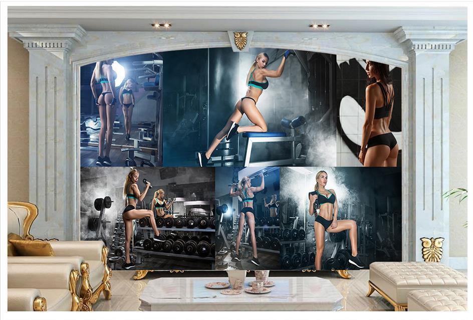 Custom 3d Photo Wallpaper 3d Wall Murals Wallpaper Hd: Popular Fitness Wallpapers-Buy Cheap Fitness Wallpapers