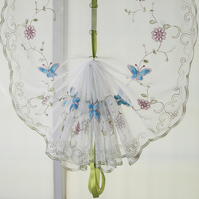 Aliexpress  Buy Organza wool embroidery Blue butterfly - balloon curtains for living room